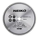Neiko 10768A 12' Carbide Tipped Miter Saw Blade | 80 Tooth