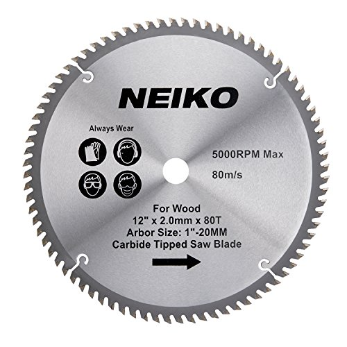 "Neiko 10768A 12"" Carbide Tipped Miter Saw Blade 