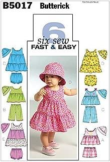 BUTTERICK PATTERNS B5017 Infants' Top, Dress, Panties, Shorts, Pants and Hat