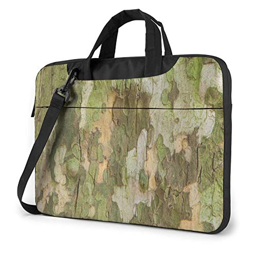 Laptop Messenger Laptop Bag Tree Bark Camuflaje Caza Bolso de Hombro Maletín Maletín de Oficina Funda para computadora portátil Satchel Tablet para Hombres Mujeres