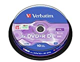 Verbatim 43666 8.5Go 8x double couche DVD+R Matt Silver - 10 Pack Spindle