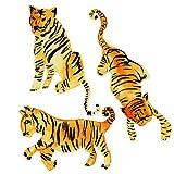 Tempaper Watercolor Tiger Peel and Stick Wall Decals, Orange & Black