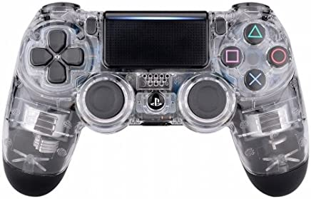 Piranha Performance Playstation 4 PS4 Dual Shock 4 - Driver inalámbrico Personalizado, Glossy Transparent Clear
