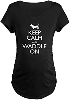 Keep Calm and Waddle On Maternity Maternity Tee
