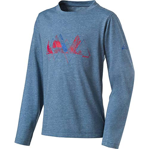 McKINLEY T- Shirt Bubba JRS Mixte Enfant, Mélange/Blue Patrol, FR : 3XL (Taille Fabricant : 164)