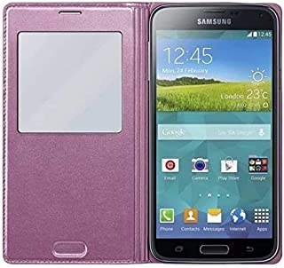 Samsung EF-CG900 S View Case for Galaxy S5 - Pink/Gold