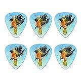 Médiators De Guitare,Unique Guitare Plectres,Baltimore Oriole Aquarelle Northeastern Bird Novelty Guitar Picks Calibre Moyen - 6 Pièces