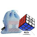 OJIN Yongjun YJ MGC II 3x3 V2 M Velocidad del Cubo YJ MGC 3 V2 3 Capas 3x3x3 Puzzle de Cubo mágico con un trípode y una Bolsa de Cubo (Negro)