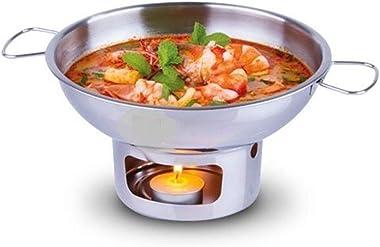 Aluminium Soup Hot Pot Tom Yum Boil Bowl Thai Lao Cookware Picnic 20 cm Chafing