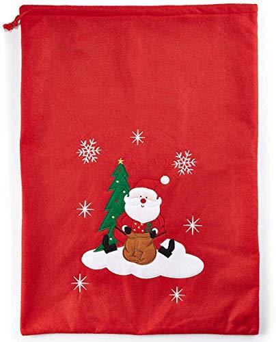 HEITMANN DECO Nikolaussack - Weihnachts-Filzsack, Stoff-Geschenksack, Geschenkbeutel rot - Weihnachtsmann