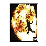 ADNHWAN Metro Boomin No Todos los héroes 2018 Cubierta del álbum de música Capas de Desgaste Arte de la Pared de la Sala Carteles para la decoración de la Pared del hogar -50X70cm Sin Marco 1 PCS