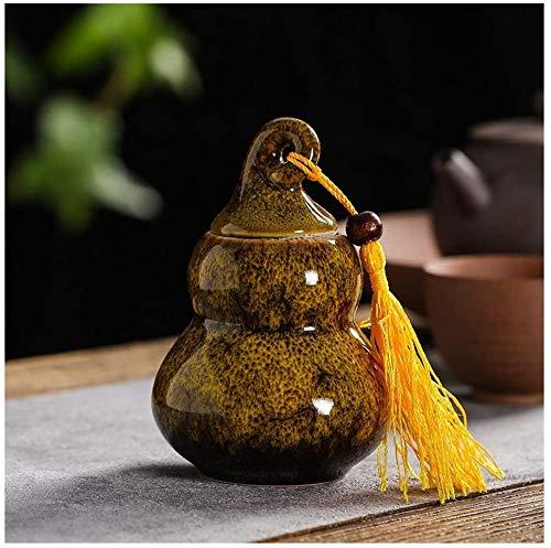 Urn Särge Erwachsene Begräbnis Keramik Feuchtigkeitsdichte Handgefertigte Beglückung for eine kleine Menge Human Ashes Fünf Farben Kreative Kürbisse Courd Begleitung for Hausti