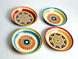 Brandani 57148 Set 4 piatto fondo Messico colori assortiti, Ironstone,