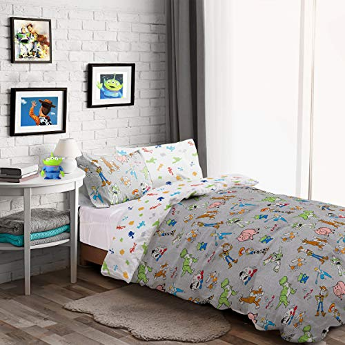 Toy Story Toys Are Back In Town Reversible Duvet Cover Quilt Bedding Set with Pillowcase (Double)