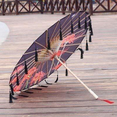 NJSDDB paraplu Zijde Paraplu regen vrouwen Dans Prop Cheongsam Geolied Papier Paraplu parasol guarda chuva paraguas mujer Hanfu kwast paraplu, A