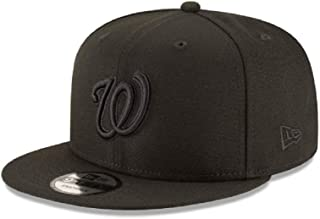 d72a9e7003e35 New Era New Era Washington Nationals MLB Basic Black Black 9Fifty Snapback