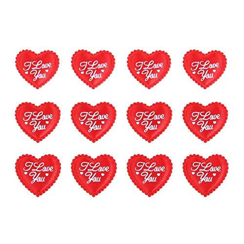 Día de San Valentín Adornos en forma de corazón Esponja Adornos de corazón Bolas colgantes rojas para la decoración del aniversario de boda de la ventana del árbol del hogar - 200 piezas