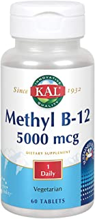 KAL B-12 Timed Release Tablets, 5000 mcg, 60 Count