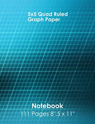 5x5 Quad Ruled Graph Paper Notebook 111 Pages 8