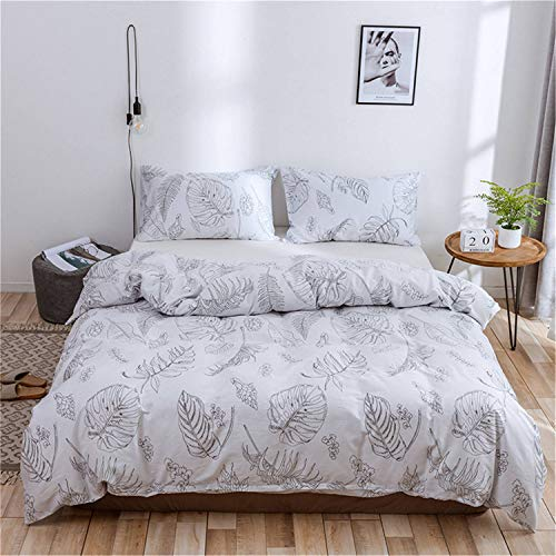 Meetgre Standard 3 Pack Colorful Bedding Duvet Quilt Cover Polyester-Cotton Duvet Cover Set King