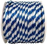 WELLINGTON CORDAGE P7240S0200BWFR 5/8 X 200 Blue/White Rope