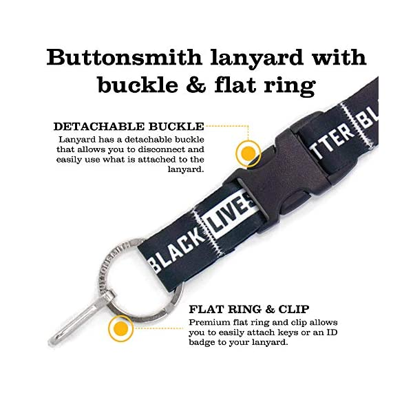 Buttonsmith Political Lanyard – Premium with Buckle, Breakaway and Wristlet – Made in The USA