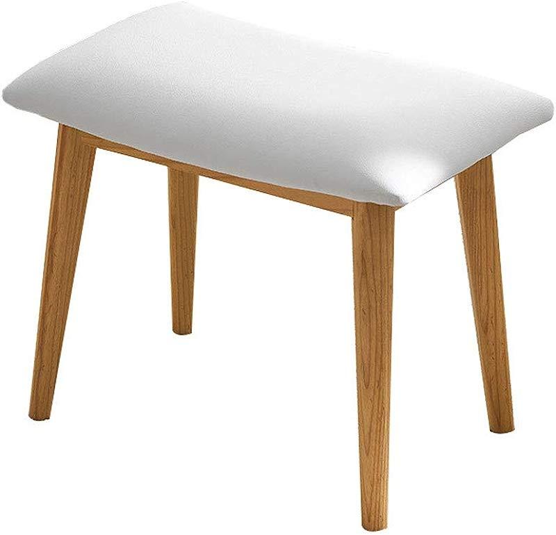 European Elegant Upholstered Dressing Stool For Desk Living Room Bedroom Size 503240cm