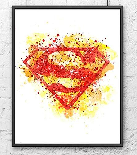 Superman Logo Poster Wall Art
