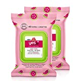 Yes To Watermelon Light Hydration Super Fresh Facial Wipes 40 Ct (2...