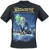 Megadeth Rust in Peace Hombre Camiseta Negro L, 100% algodón, Regular