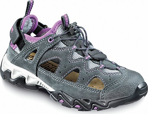 Meindl Sandale Rudy Junior, Schuhgröße:34, Farbe:Viola/Grau