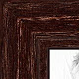 ArtToFrames 17x22 Inch Brown Picture Frame, This 1.125' Custom Wood Poster Frame is Walnut Stain on Red Oak, for Your Art or Photos - Comes with 060 Plexi Glass, 2WOM0066-80209-YWAL-17x22