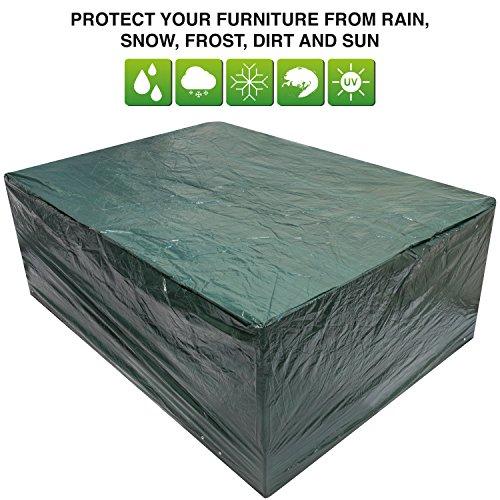 Woodside - Bâche/Housse de Protection Ovale pour Salon de Jardin (Table et chaises) - imperméable - Grande Taille