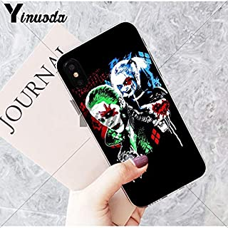 Inspired by suicide squad Phone Case Compatible With Iphone 7 XR 6s Plus 6 X 8 9 Cases XS Max Clear Iphones Cases TPU - Coloring- Hoodie- Cd- Poster- Poster- 32951408552