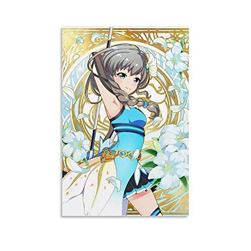 HAPPOW Póster de anime de Battle Girl High School - Lienzo decorativo para pared o sala de estar, 20 x 30 cm