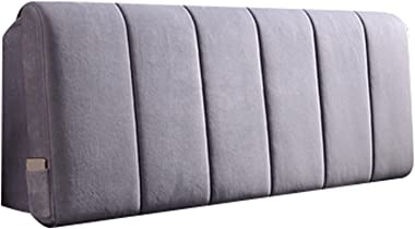 Headboard Cover All-Inclusive Bed Head Covers Dustproof Headboard Cover Bed Bedside Back Protector (Color : Light Grey, Size
