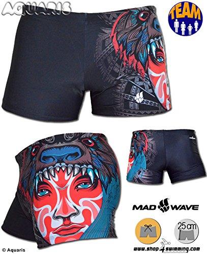Mad Wave Herren Badehose Kastenform Boxer Club D7623 (Tribe) - Gr. 6/L