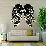 YuanMinglu Alas de Vuelo de Plumas de ángel Apliques de Pared Pegatina de Vinilo Mural espíritu Inspirador calcomanías Interiores del Coche decoración del hogar 67x63 cm