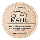 Rimmel - Poudre Compact Stay Matte - Anti-brillance - Fini mat et naturel - 005 Silky Beige - 14gr