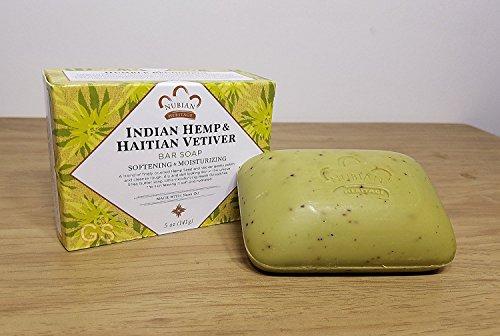 Indian Hemp & Haitian Vetiver Soap Nubian Heritage 5 oz Bar