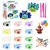 SWANGNIC 12 Packs Air Dry Clay Modeling Clay for Kids, Soft & Ultra Light DIY Clay with 3 Modeling Tools, Kids Art and Crafts, Best Toys for 3 4 5 6 7 Years Kid