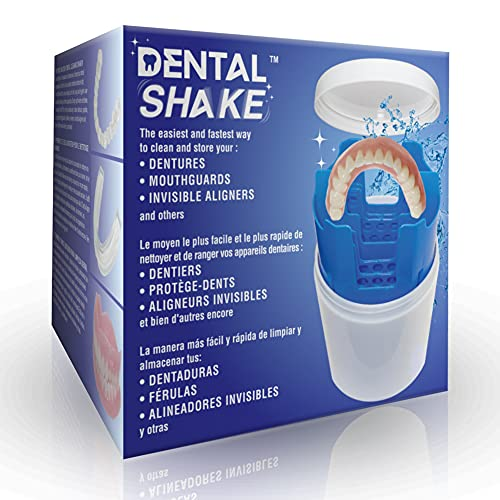 Dental Shake - The Easiest and Fastest Way to Clean and Store Your Dental Apparatuses with a Customizable Rinse Basket