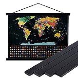 Ywlake - Marco de fotos A0, marco magnético de madera natural para póster, 84 cm, color negro