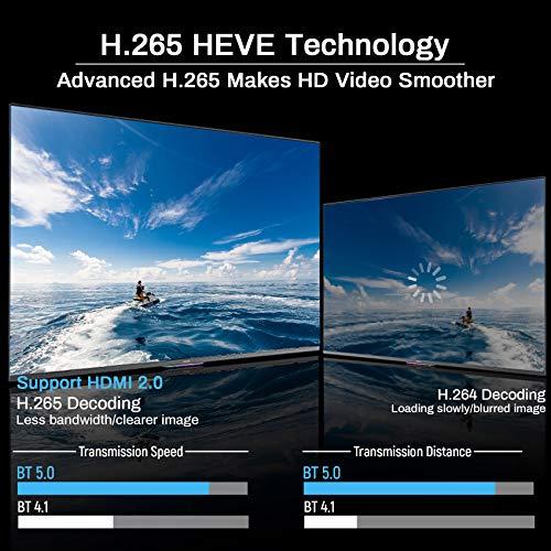 Android TV Box 10.0 4GB RAM 64GB ROM H616 Smart TV Box Set Top Box BT 5.0 with Backlit Wireless Keyboard USB 2.0 Ultra HD 1080P 4K 6K HDR Dual Band WiFi 2.4GHz 5.8GHz TV Box