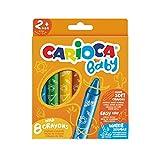 Carioca Baby Wild Crayons | 42892 - Ceras Blandas para Niños a Partir de 24 Meses, 8 Unidades