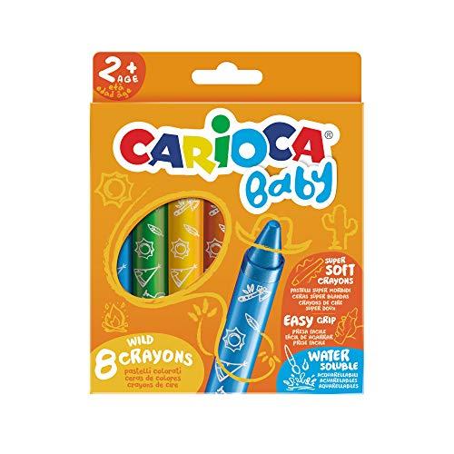 Carioca Baby Wild Crayons | 42892 - Ceras Blandas para Niños a...