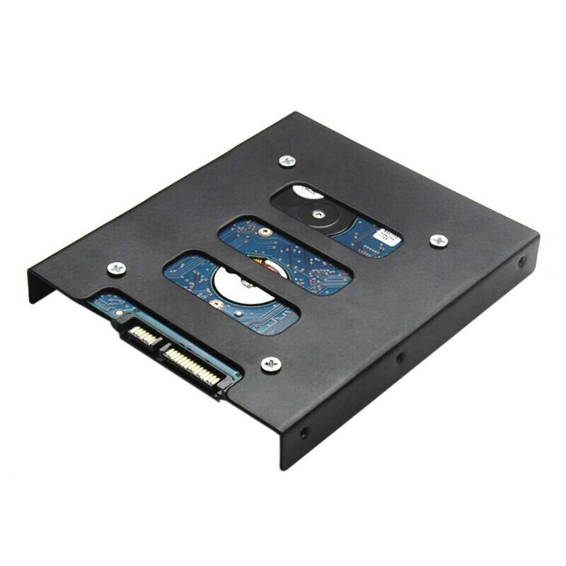 Zinniaya Profesional 2.5 Inch a 3.5 Inch SSD HDD Adaptador de Metal Rack Disco Duro SSD Soporte de Montaje Soporte ...