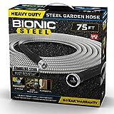 Bionic Steel 75 Foot Garden Hose 304 Stainless Steel Metal Hose – Super Tough & Flexible Water...
