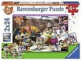 Ravensburger Puzzle - 44 Gatos Puzzle 2 X 24 Pz, Puzzle Para Niños