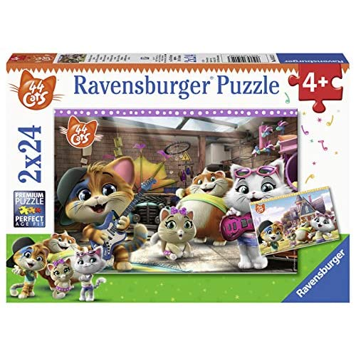 Ravensburger-44 Gatti 44 Cats Puzzle per Bambini, Multicolore, 05012